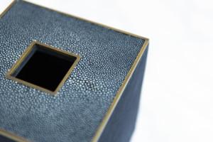 Brecht Tissue box galuchat & brass Blue