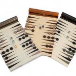 Backgammon. Leather travel game