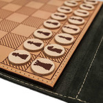 Chess board. Leather travel game
