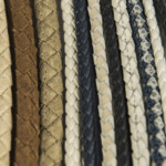 Leather piping available in custom size and color