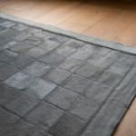 Custom haired leather rug